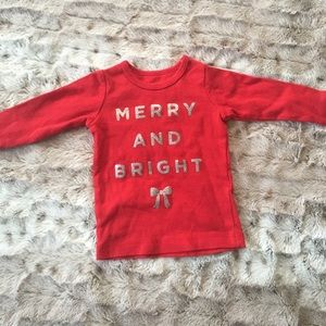 Carter's Merry and Bright Top 3 months Long Sleeve